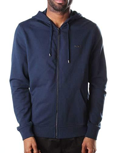Michael Kors Liquid Logo - Sudadera con capucha para hombre, color azul Azul azul XL