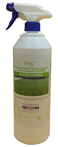 Limpiador para césped artificial higienizante y antiestático. STATIC CESPED 1 Litro