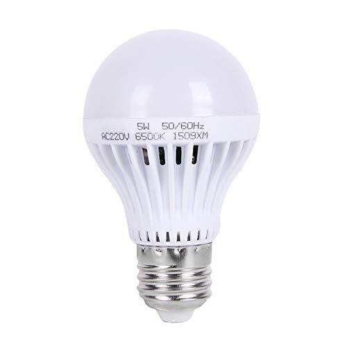 Yissma Led-gloeilamp, 220 V, met geluidssensor, E27 ledlampen, geluidsbesturing, auto, in- en uitschakelen, nachtlampje, sensorlamp