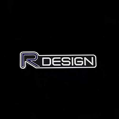 OMGDZ Auto 3D Metall RDESIGN Logo Aufkleber für Volvo XC90 S60 CX60 S80 V40 S40 XC70 V60 XC40 V90 Kofferraum Embleme Abzeichen Körper Kotflügel Aufkleber, B.