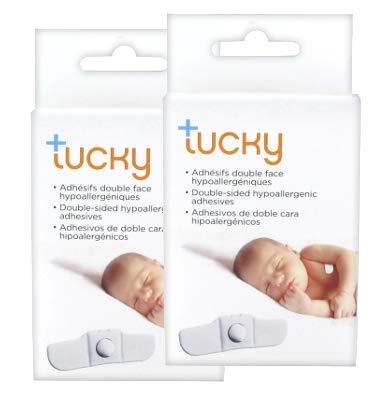 Paquete de 2 cajas por el termómetro Tucky - 2x15 adhesivos hipoalergénicos de doble cara