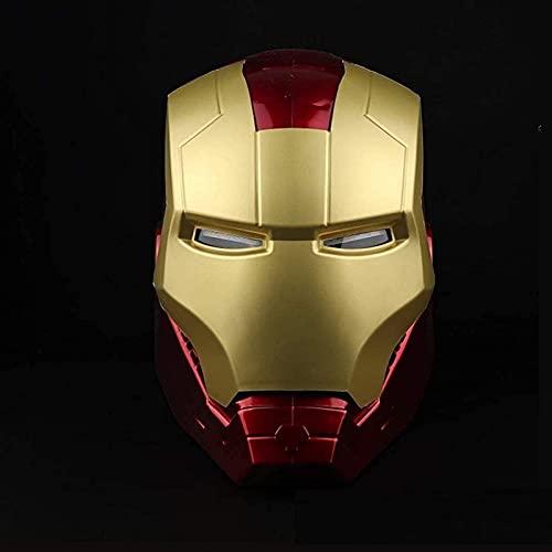 WXHJM Casco de Iron Man Vengadores 1/1 Modelo de Juguete,para Fiesta de Halloween Mascarada,Mscara Porttil y Juguetes Luminosos Accesorios de Cosplay de Pelcula Adecuado