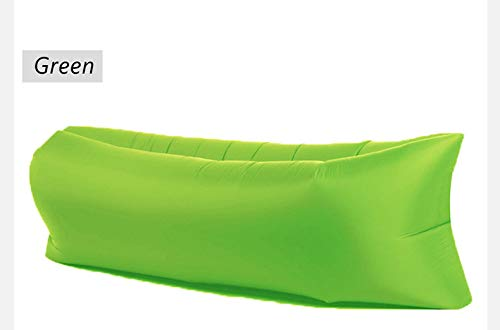 Best art Light Sleeping Bag Waterproof Inflatable Bag Lazy Sofa Camping Sleeping Bags air Bed Adult Beach Lounge Chair Fast Folding (Green)