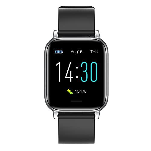 HUIYAN Smart Watch Sport Ritmo cardíaco Presión Arterial Rastreador de Ejercicios IP68 Reloj Inteligente a Prueba de Agua para iOS Android