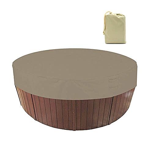 SUYUDD Große runde Whirlpool-Abdeckung im Freien wasserdichte UV-beständige SPA-Whirlpool-Abdeckungs-Swimmingpool-Staubschutzabdeckung Pool abdeckungen kuppel
