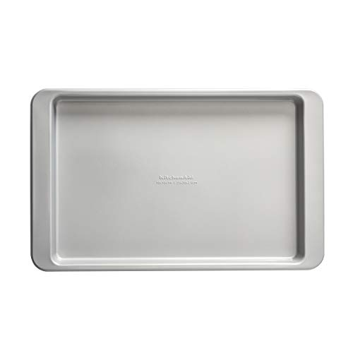 KitchenAid Nonstick Aluminized Steel Baking Sheet, 10x15-Inch, Silver