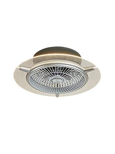 OUKANING Fan Deckenventilator mit beleuchtung und fernbedienung leise deckenventilator LED Deckenleuchte Dimmbar Schlafzimmer Lampe Büro Kinderzimmer Beleuchtung(45)