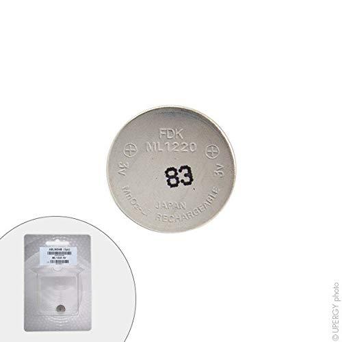 FDK - Acumuladores botón de Litio ML1220 3V 18mAh