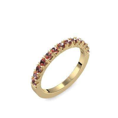 Memoire ring Gold Ring Granat 585 + inkl. Luxusetui + Granat Ring Gold Granatring Gold (Gelbgold 585) - Classiness Amoonic Schmuck Größe 56 (17.8) AM57 GG585GRFAGRFA56