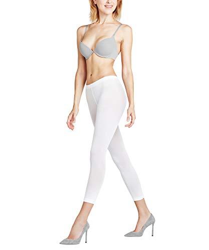 FALKE Damen Capri Leggings Pure Matt 50 Denier - Semi-Blickdicht, Matt, 1 Stück, Weiß (White 2209), Größe: L