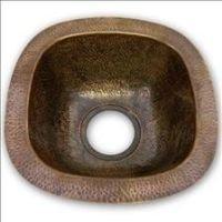 Houzer HW-LAG1BF Hammerwerks Series Undermount Copper Single Bowl Bar/Prep Sink, Antique Copper by HOUZER