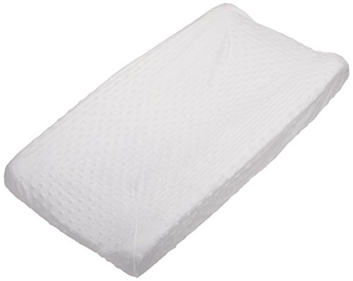Rumble Tuff Minky Dot Changing Pad Cover, blanc, Compact