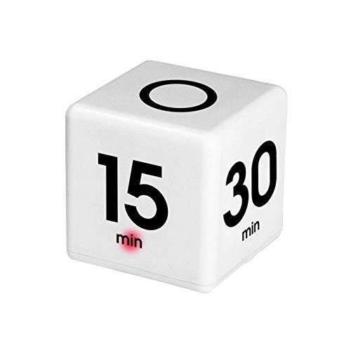 フェリモア タイマー キューブ サイコロ アラーム 5分 10分 30分 60分 キッチンタイマー (ホワイト)