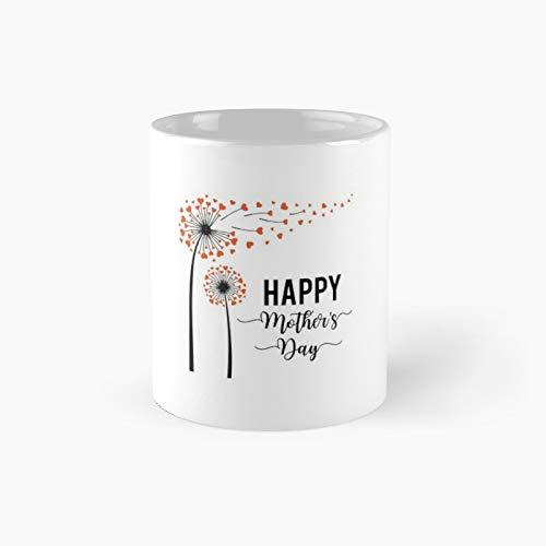 Mother's Day Dandelion Classic - Taza de café con texto 'Best Gift Funny Coffeee'