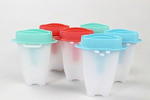 TUPPERWARE Kinder Eislutscher Lollitups weiß blau pastellorange mint D178