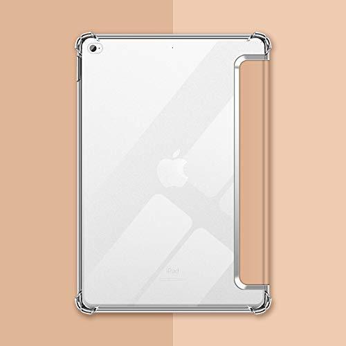 VAGHVEO Custodia per iPad Mini 4/5 7,9 Pollici, Flessibile Silicone TPU Trasparente Cover Retro, Sottile Leggero Auto Svegliati/Sonno Case Antiurto Resistente per Apple iPad Mini 4 & 5 Tablet, Oro