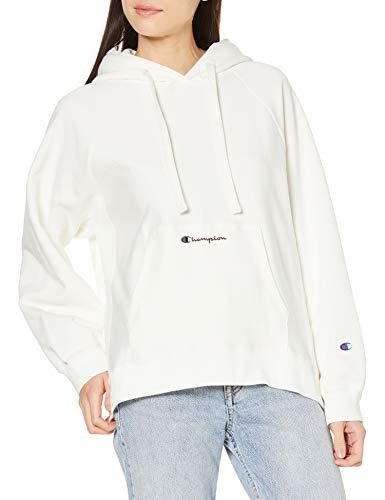 [チャンピオン] パーカー 綿100% スクリプトロゴ リバースウィーブ フーデッドスウェットシャツ CW-T101 レディース ペールホワイト L