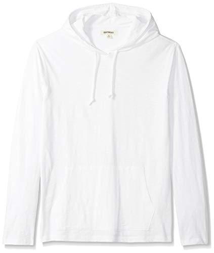 Amazon-Marke: Goodthreads Herren T-Shirt-Hoodie, leicht, aus Slub-Baumwolle, bright white, US S (EU S)