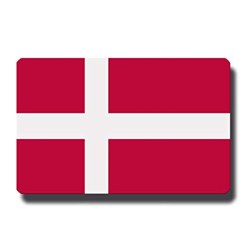 Kühlschrankmagnet Flagge Dänemark - 85x55 mm - Metall Magnet mit Motiv Länderflagge