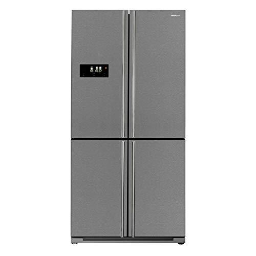 Sharp SJ-F2560E0I-EU Side by Sides/A++ / Altura 195 cm / 373 kWh/año/Refrigeración 390 L/Congelador 170 L/AdvancedNoFrost/AdaptiZone/Acero inoxidable