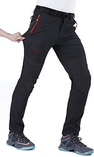 CARETOO Pantaloni Funzionali Softshell Invernali da Uomo Slim Fit Impermeabili e Traspiranti per Trekking e Sport all'aperto Escursionismo