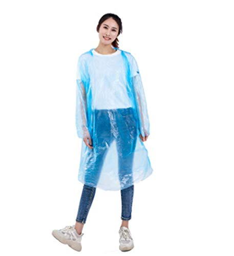 Unisex Wegwerp Regenjas, Adult Emergency Waterproof Hood Poncho Travel Camping Moet Regenjas Clear Regenkleding Suit