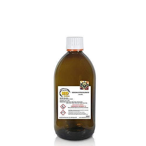 500 ml de hipoclorito de sodio 14-15% limpiador de piscina, cloro líquido multitamaño, 1