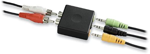 Logitech 5.1 Game Console Adapter Convert Rca Plugs To A Single 1/8 (Discontinued by Manufacturer)