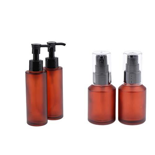 Homyl 4pcs Vaporisateur Bouteille de Parfum Flacon de Voyage Pulvérisateur de Parfum Liquide et eau avec Couvercle - 30ml 100ml