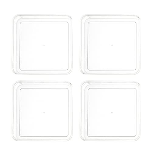 GARNECK 4 Piezas Caja de Aperitivos de Acrílico Transparente de Fruta Seca de Dulces Cuadrado Cubo de Almacenamiento de Plástico Abierto Despensa Organizador Contenedores Cubo