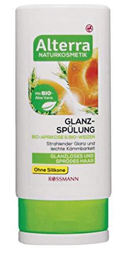 Glanz-Spülung Bio-Aprikose & Bio-Weizen - Naturkosmetik - Ohne Silikone - Strahlender glanz, leichte Kämmbarkeit