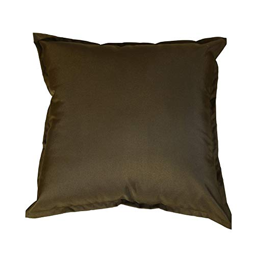 iStyleMode Pack Of 2 Outdoor Garden Filled Cushion Covers Waterproof - 18' X 18' - Breathable Fabric - 45cm x 45cm (Brown)