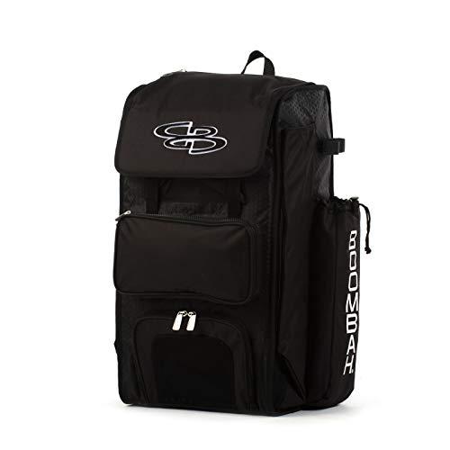 "Boombah Catchers Superpack Bat Bag - 23-1/2"" x 13-1/2"" x 9-1/2"" - Black - Holds 4 Bats - Backpack Version (no Wheels)"