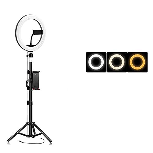 ROM 26cm LED Luz de Relleno para fotografía en Vivo 130cm Soporte de Soporte en Vivo Belleza Bluetooth Selfie Fotografía USB Luz de Relleno en Vivo