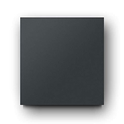 Briefkasten Edelstahl B1 Light Anthrazit, moderner Premium Design Wandbriefkasten ohne Zeitungsfach