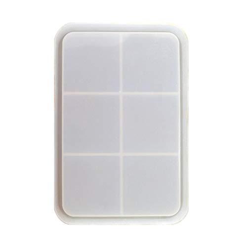 Xinchangda Rolling Tray Silikonform Rechteckige Silikonform Kuchenform Antihaft-Weichbackform Pfanne Küchenbackform Aufbewahrungsform Schmuckschale Harzschalenform
