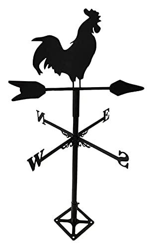 Segnavento Acciaio inossidabile Meteo Vane Farm Iron Home Indicatore di direzione del vento a forma di Gallo a forma di Gallo, Strumenti di misurazione dei tetti del cantiere Decorazione del giardino