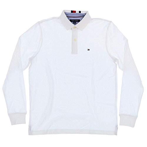 Tommy Hilfiger Herren Poloshirt Langarm - Weiß - Medium