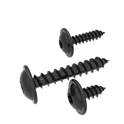 100 AUPROTEC Viti Autofilettanti 3.9 x 9.5 mm TORX a testa mezza tonda flangiata zincata nera DIN 7049-3,9x9,5mm, 100 pezzi