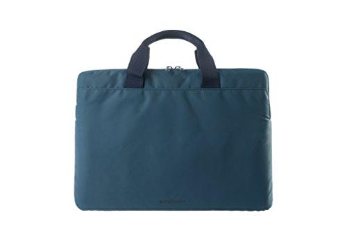 Tucano Minilux gepolsterte Laptoptasche/Schultertasche für 13/14 Zoll Notebook/Tablet/Netbook/Laptop/Ultrabook/MacBook mit schockabsorbierender Innenpolsterung aus Nylon - Sky blue