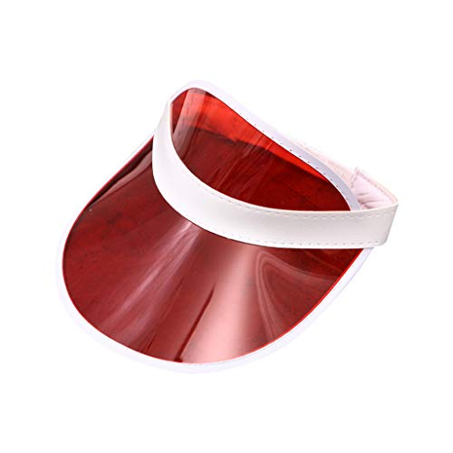 osfanersty Mujeres Hombres PVC Transparente Sombrero De...