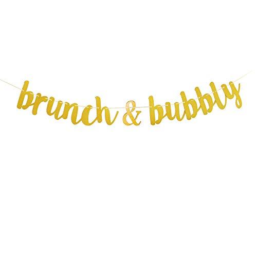 Brunch & Bubbly God Glitter Banner,Wedding Bachelorette Birthday Party Decorations.