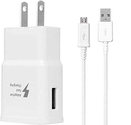 Tablet Adaptive Fast Charger,Made for Samsung Galaxy Tab A 10.1 (2016) Tablet,Tab E 8.0 Tablet,Tab S2 9.7,J7,J5,J3,S7,S6,S5,S4,S3, Micro USB 2.0 Cable,up to 50% Faster Charging!