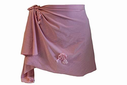 Nicole Olivier Damen Pareo Chaine Gr L Rosa Bademode Strandmode Rock Skirt #X276