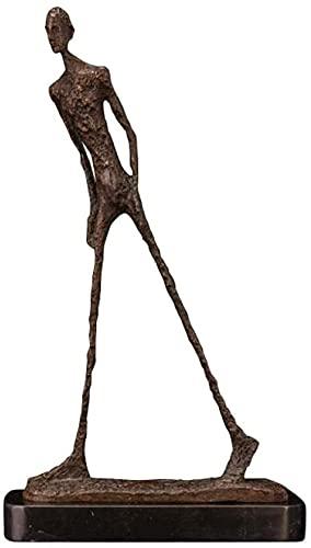 XiangRuiDa Estatuas Figurine Animal Giacometti Escultura de Bronce Abstracto Caminata Estatua Estatua Escultura Decorativa Beautiful