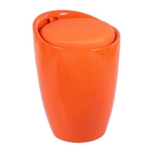 YIDIAN-Otomana Taburete de Almacenamiento Zapato Negro Banco Vestíbulo Sofá Taburete Sala de Estar Dormitorio Tocador Centro Comercial Zapatería Taburete (Color : Orange)