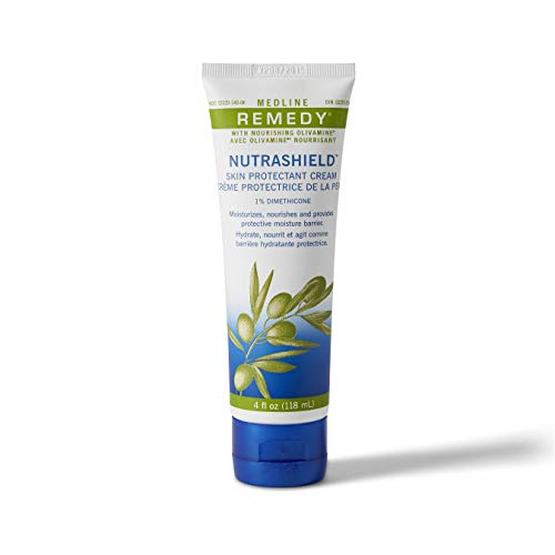 Medline Remedy Nutrashield, Skin Protection, Relieves Chapped or Cracked Skin, Ideal for Dry Denuded Skin, 4oz. (12 Count)