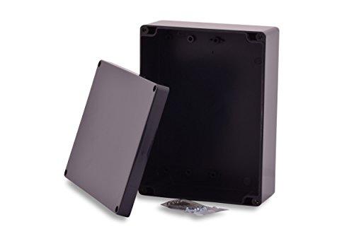 BOXEXPERT Kunststoff-Gehäuse Serie Elbe 200x150x75mm IP 65 grau RAL7015 Schaltschrank Verteilerkasten