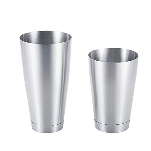 Boston Shaker - Coctelera de acero inoxidable resistente y duradero para coctelera (plata)