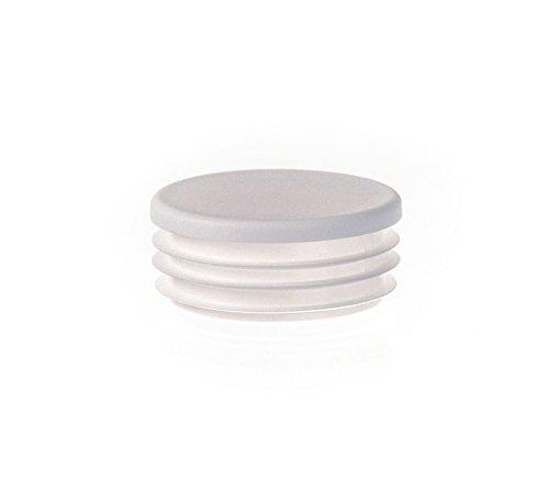 Rundstopfen 120 mm Weiß | 1 Stück | Kunststoff Endkappen Verschlusskappen